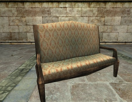 Gammer's Couch for Tall Visitors