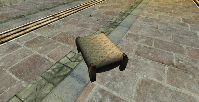 Gammer's Best Large Footstool