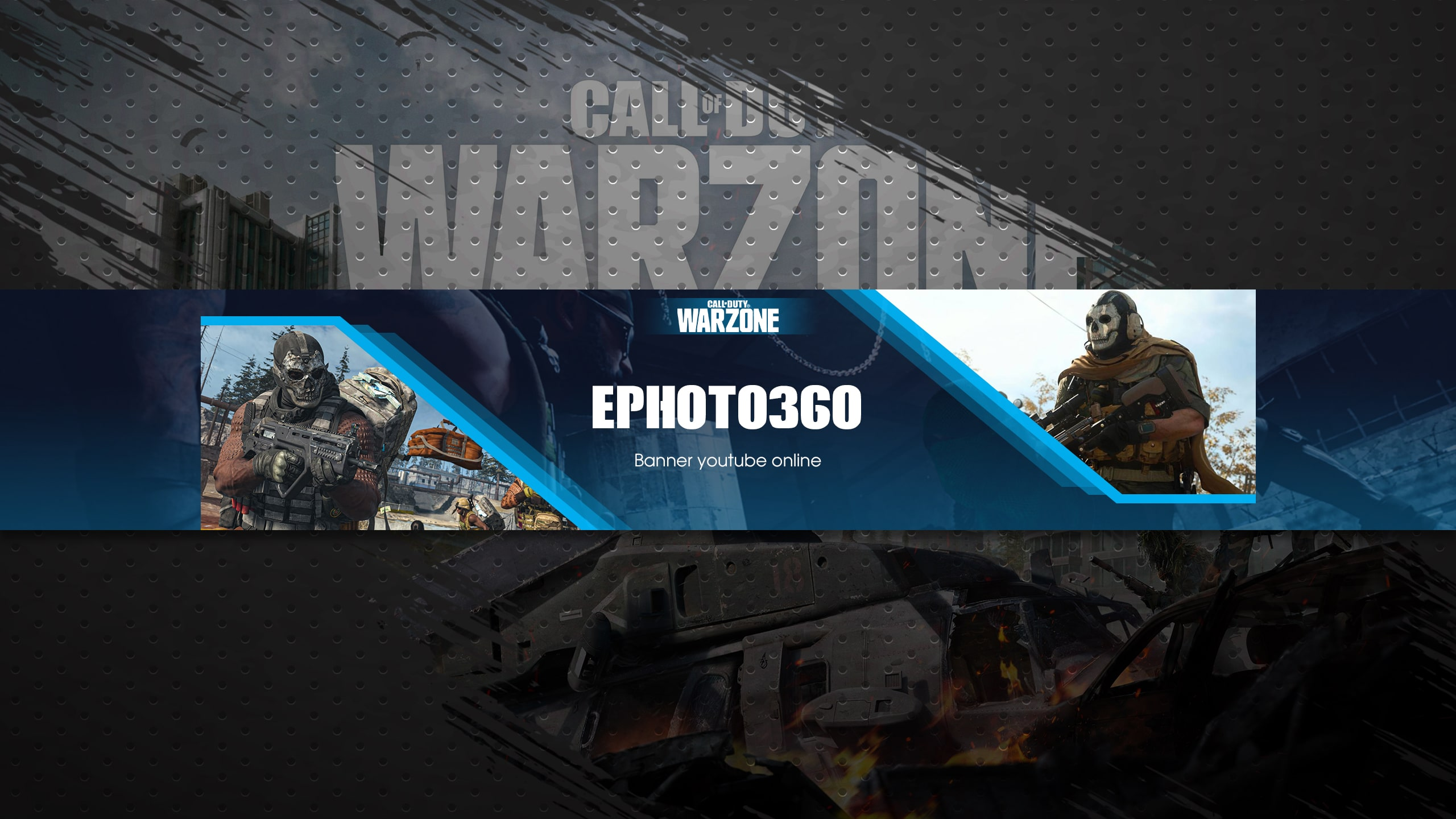 Upload images, logos, or choose from crello's 80m photo library. Create Call Of Duty Warzone Youtube Banner Online