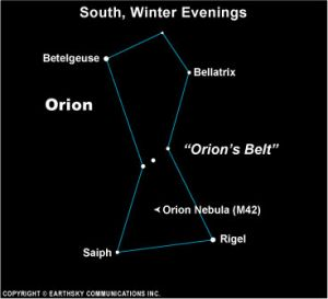 Rigel in Orion is bluewhite Brightest Stars EarthSky