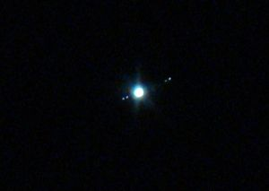Jupiter and 4 largest moons