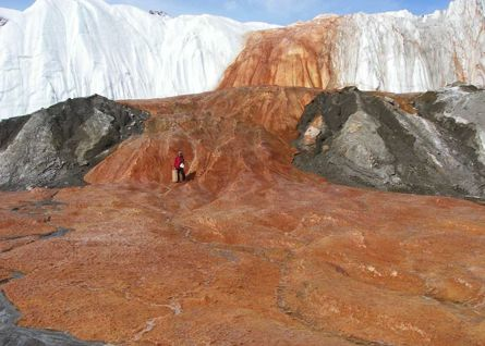 Blood Falls in Antarctica via ScienceNow