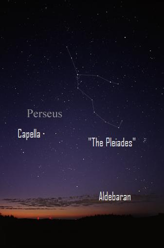 The constellation Perseus, radiant of the Perseid meteor shower