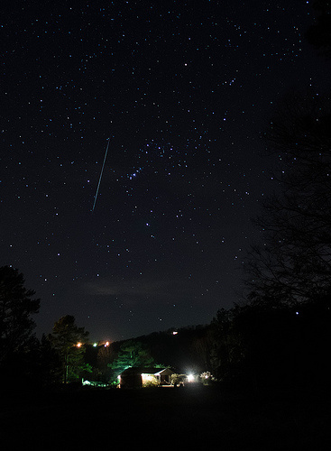 Photo of Geminid meteor by Josh Beasley taken on December 14, 2012. View larger