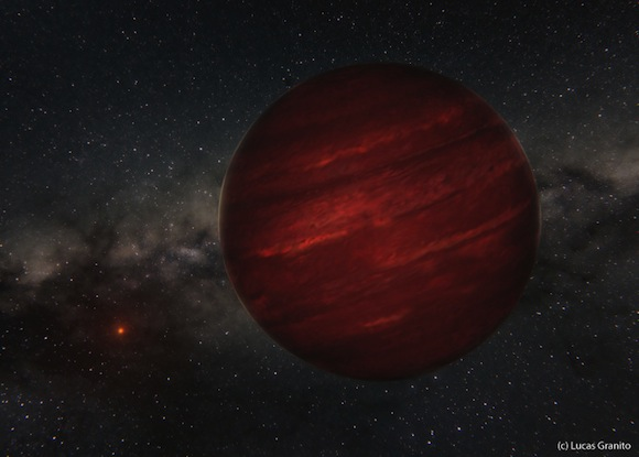 Odd planet so far from its star Gas giant 155 light