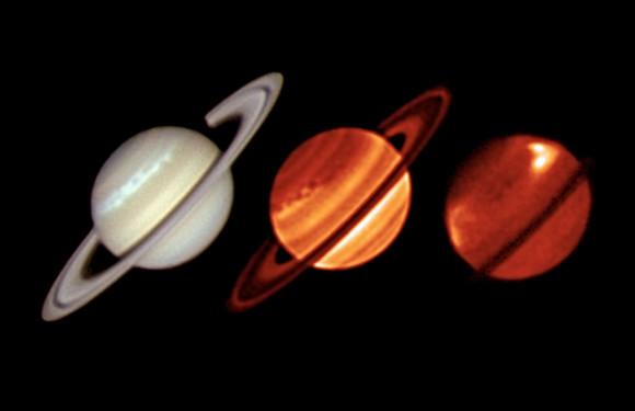 Saturn via ESO/U. of Oxford/L. N. Fletcher/T. Barry