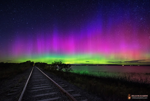 Mike Taylor in Maine caught this photo of last night's aurora.  More about Mike and this photo.