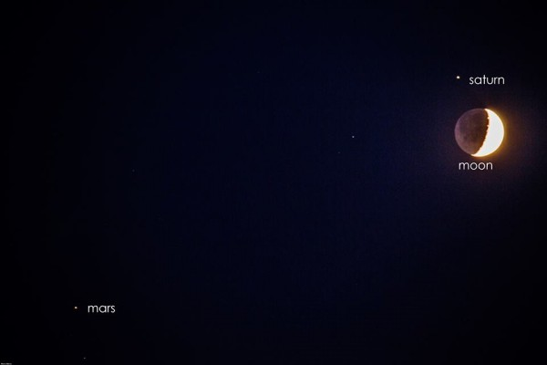 Fav photos of August 31 moon Saturn and Mars Todays