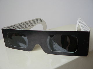 Eclipse glasses enable you to safely watch a solar eclipse.