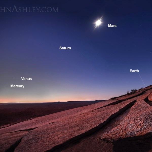 See all 5 bright planets in March Sky Archive EarthSky