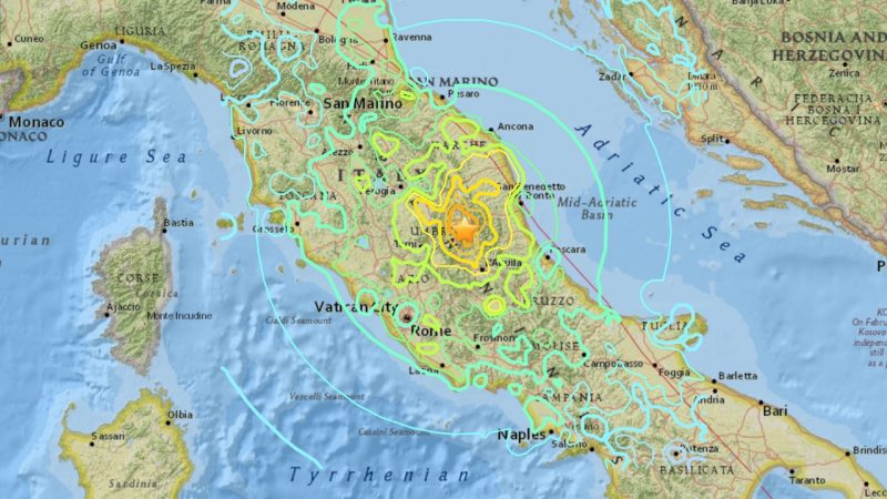Image result for earthquake in italy 2016