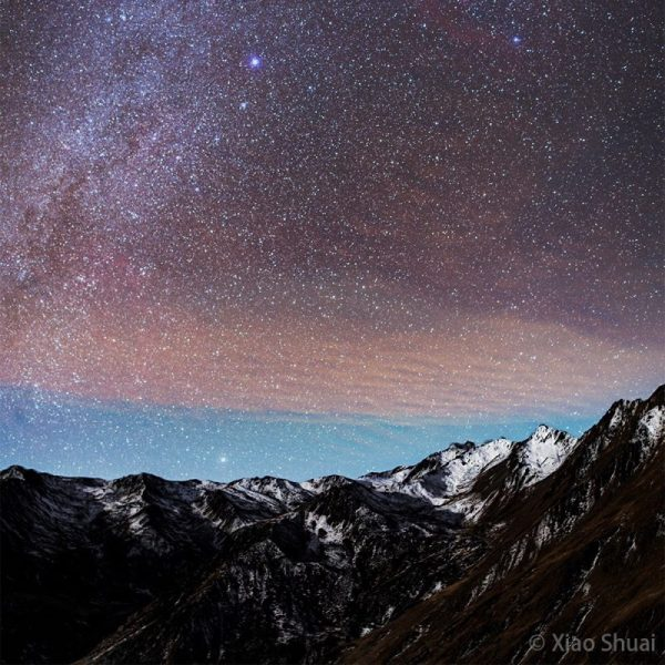 Gravity waves in airglow over China | Earth | EarthSky