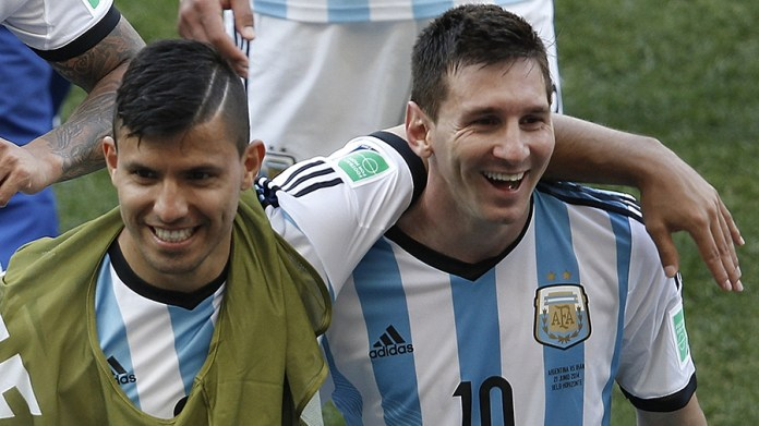 Image result for messi and sergio aguero friend