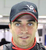 Friday test driver Jerome d'Ambrosio poses for a photo