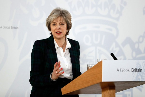 Image result for British PM Theresa May receives UK Parliament's approval to begin Brexit process