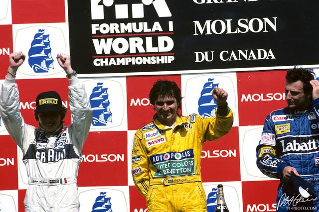 Image result for 1991 canadian grand prix podium