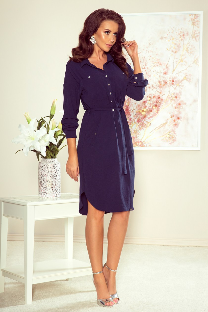 shirt dress navy big -