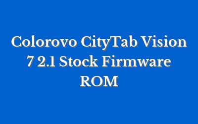 Colorovo CityTab Vision 7 2.1