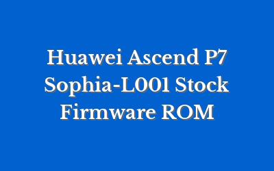 Huawei Ascend P7 Sophia-L001