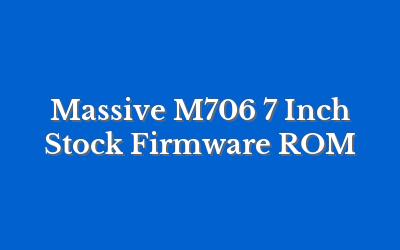 Massive M706 7 Inch