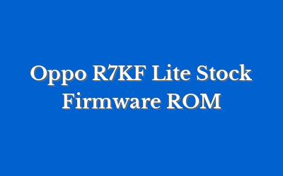 Oppo R7KF Lite