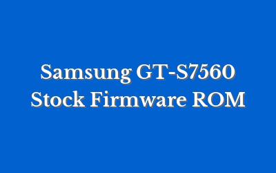 Samsung GT-S7560