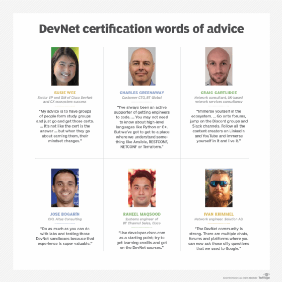 Network pros share Cisco DevNet certification advice