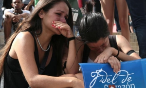 Students gathered at the University of Havana to pay tribute to Fidel.