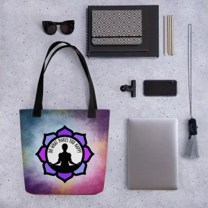 ILUMINA Tote Bag, Black Handle: Do What Makes You Happy