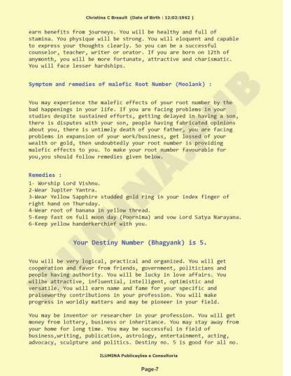 Vedic Numerology Report - Page 07