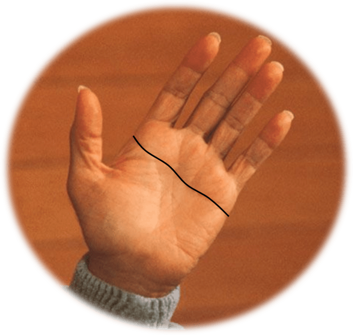 Simian Line on Osho's Left Hand