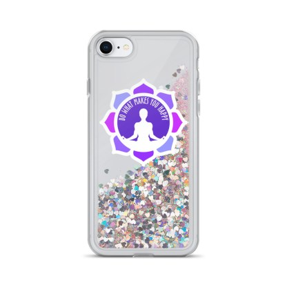 Inspirational Liquid Glitter Case for iPhone 7/8, Pink
