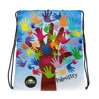 ILUMINA Drawstring Bag: I Love Palmistry