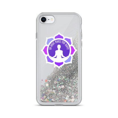 Inspirational Liquid Glitter Case for iPhone 7/8, Silver