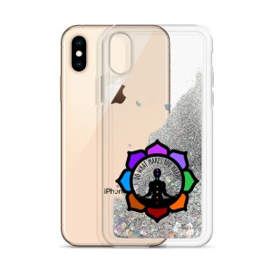 Inspirational Liquid Glitter Case for iPhone X/XS, Silver