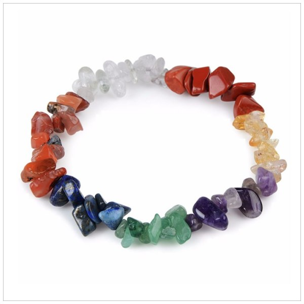 Bracelet with 7 Chakras in Crystals