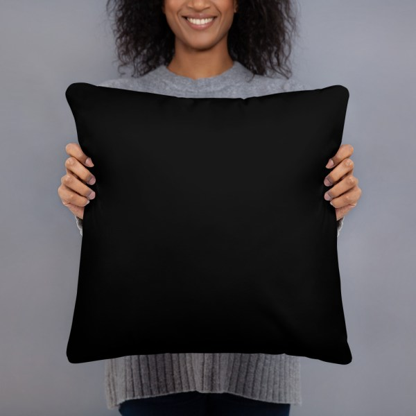 "2-Choices Pillow, Black Back, 18"" x 18"""