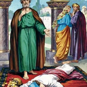 Wednesday: Ananias and Sapphira