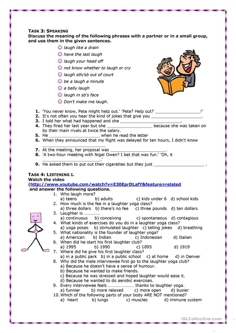 What Is Laughter Yoga Worksheet