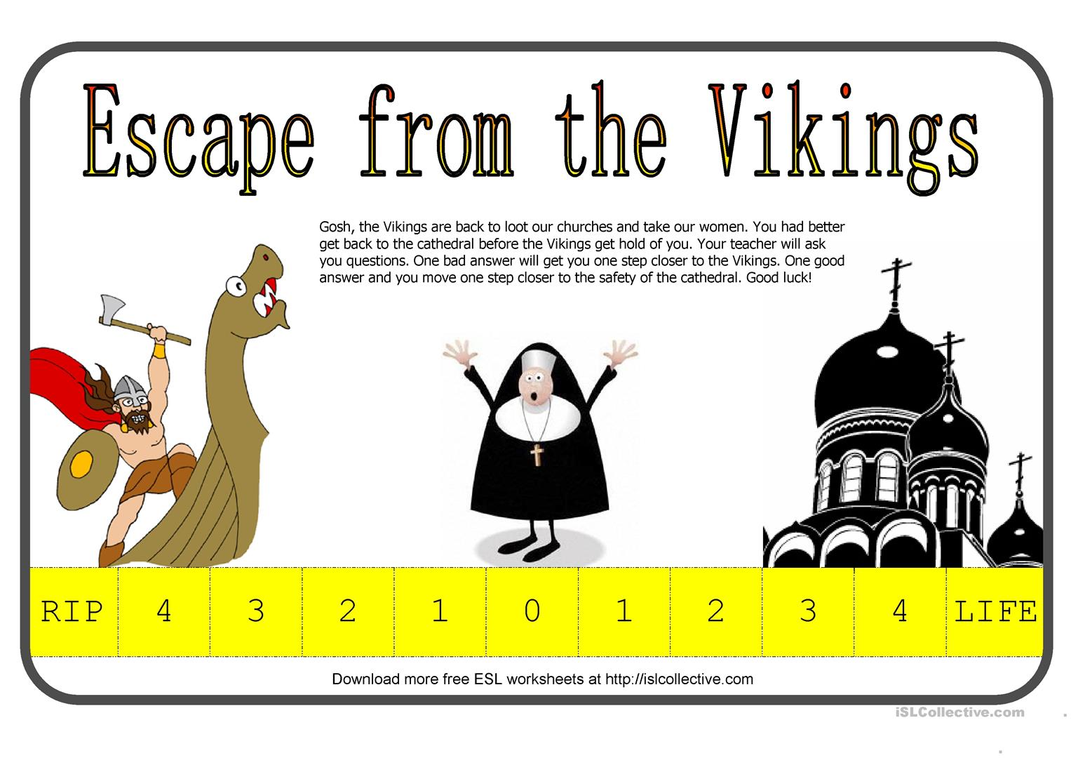 Escape From The Vikings Fun Way To Test Students