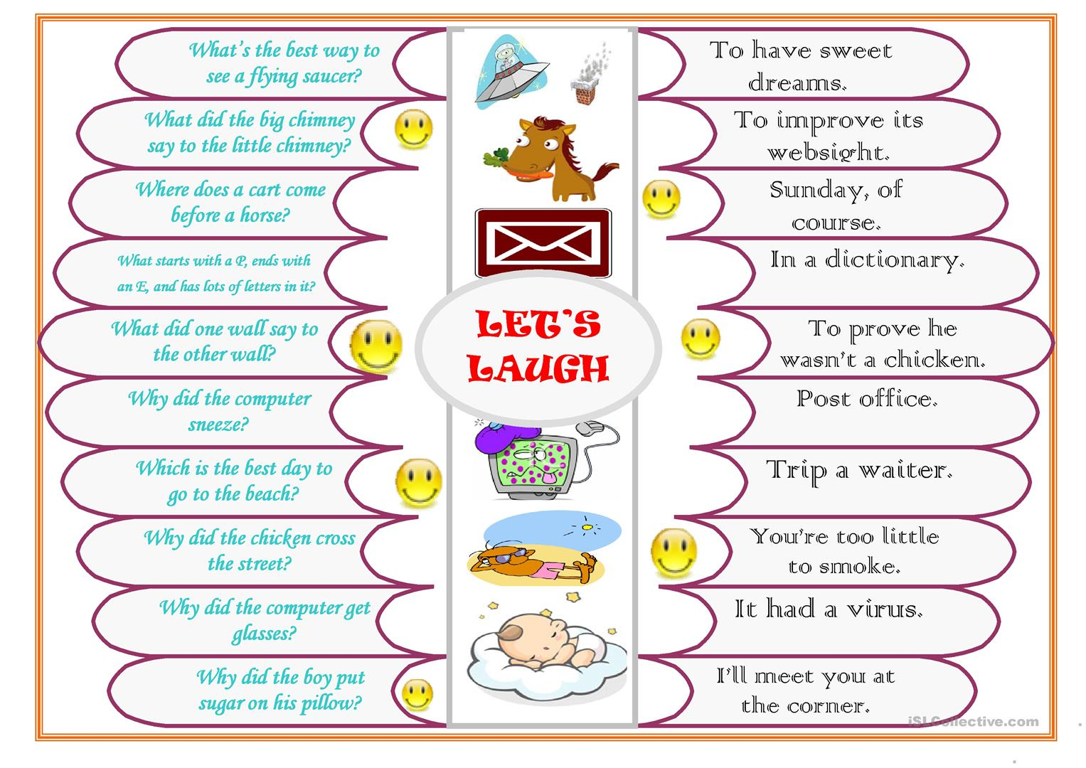 Let S Laugh Worksheet
