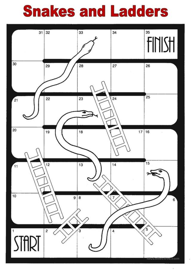Snakes and ladders - English ESL Worksheets for distance learning ...