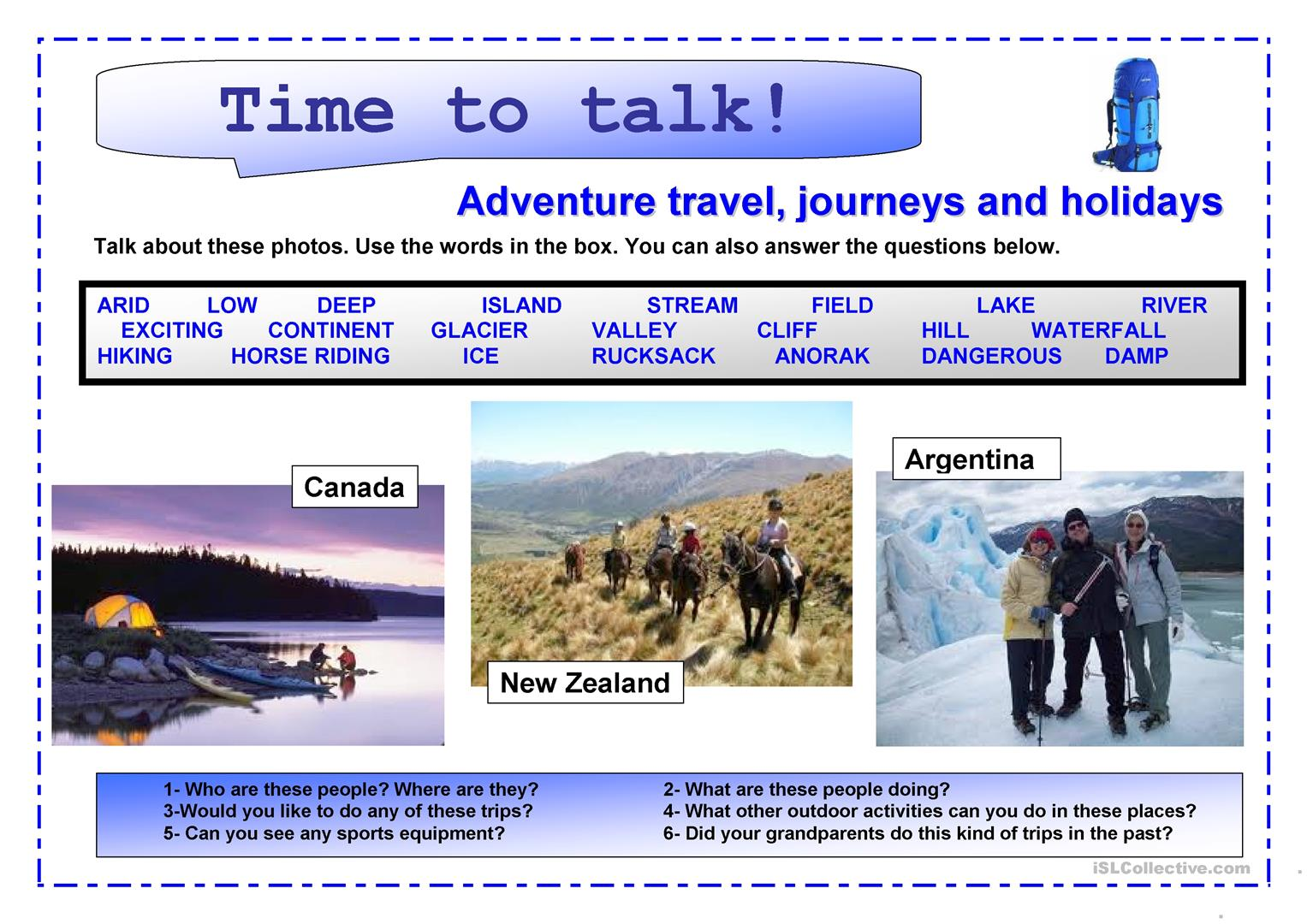 Time To Talk 3 Adventure Travel Journeys And Holidays