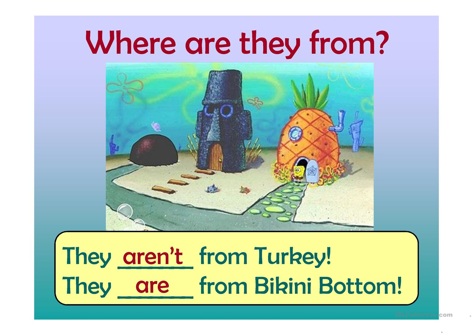 To Be With Sponge Bob Worksheet