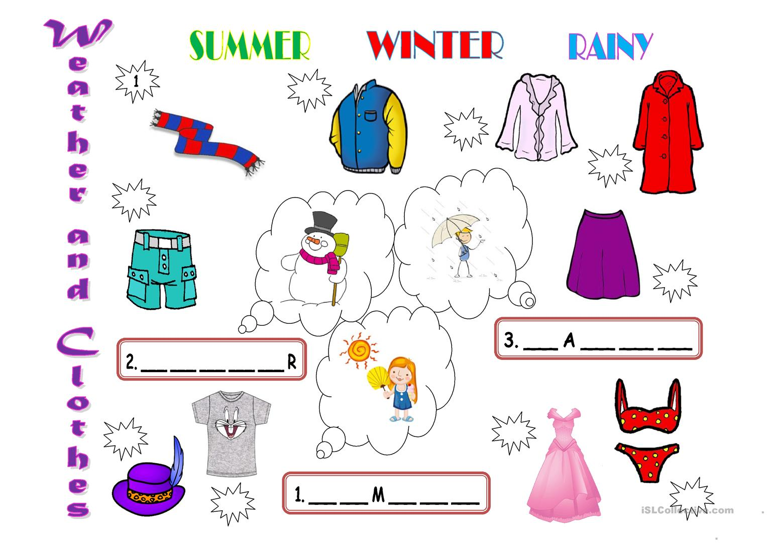 Weather And Clothes Worksheet