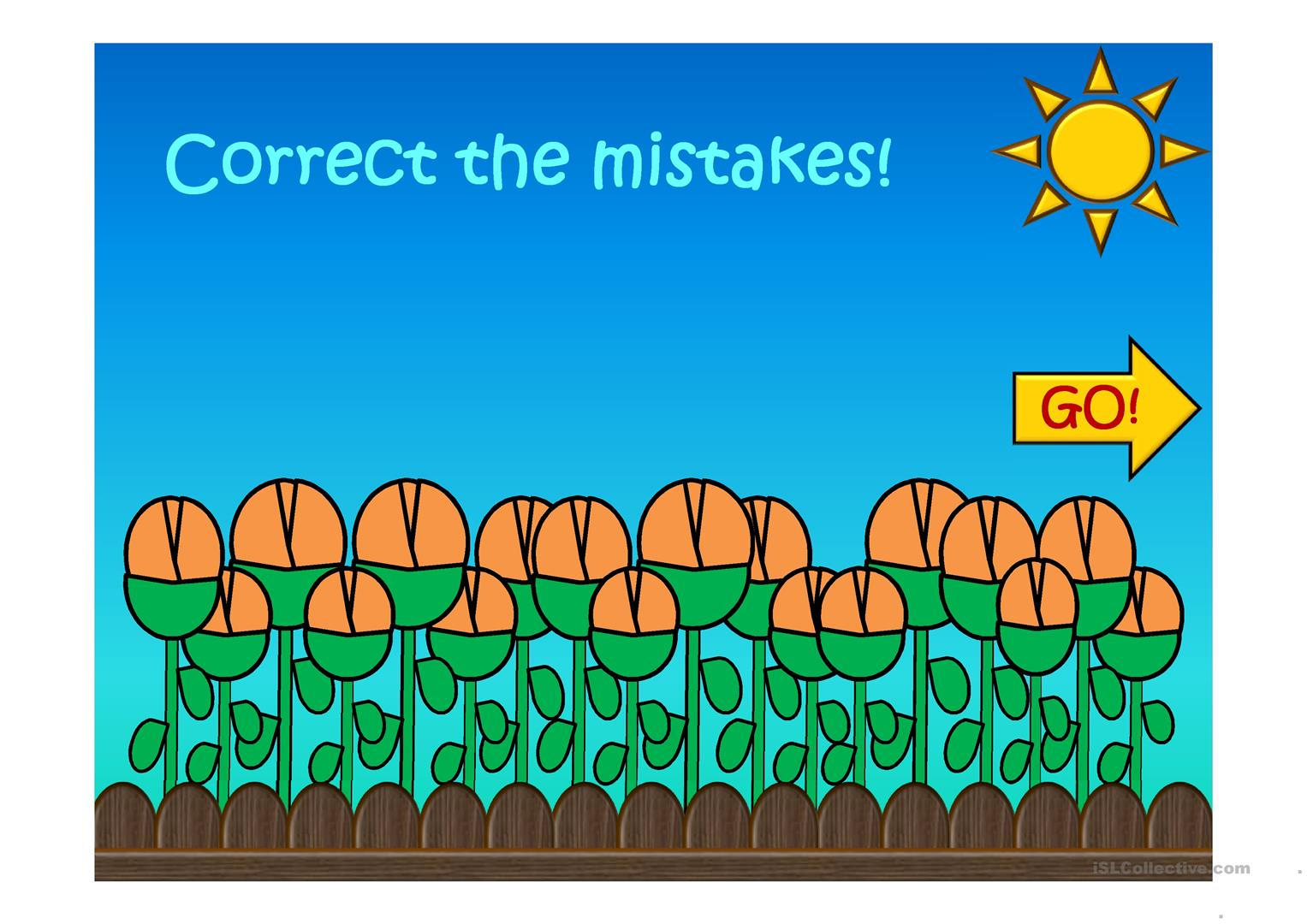 Correct The Mistakes Grammar Review Present Simple Too