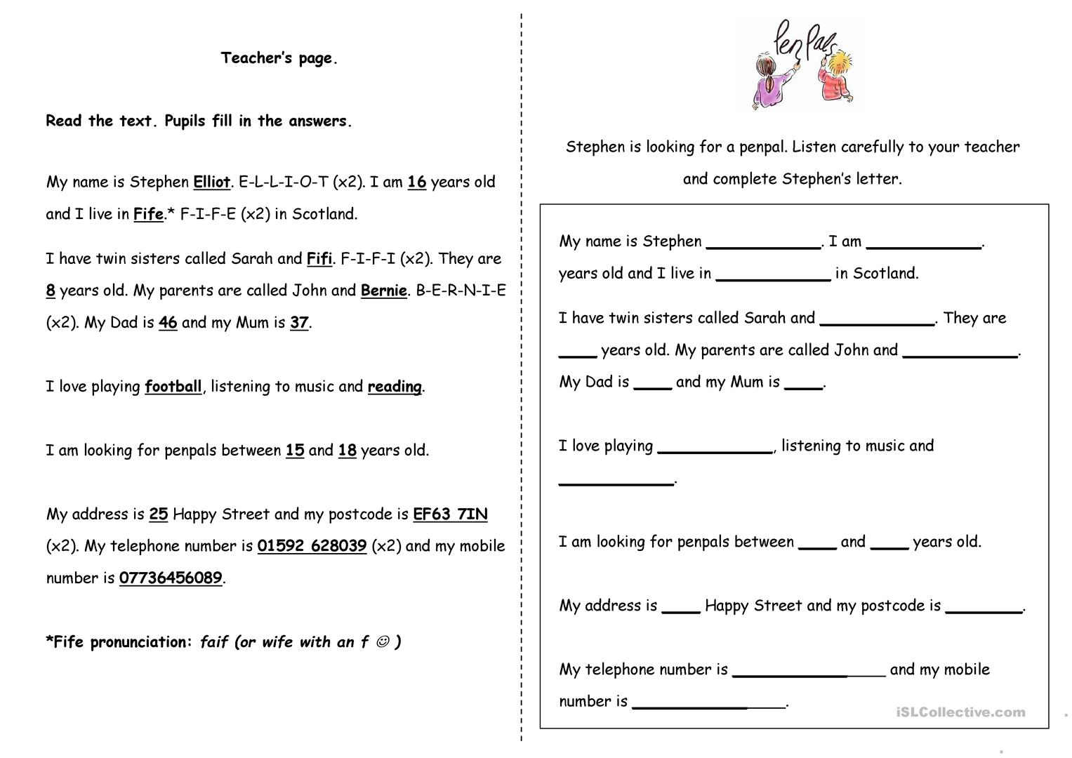 Listening Exercise Alphabet Amp Numbers Worksheet