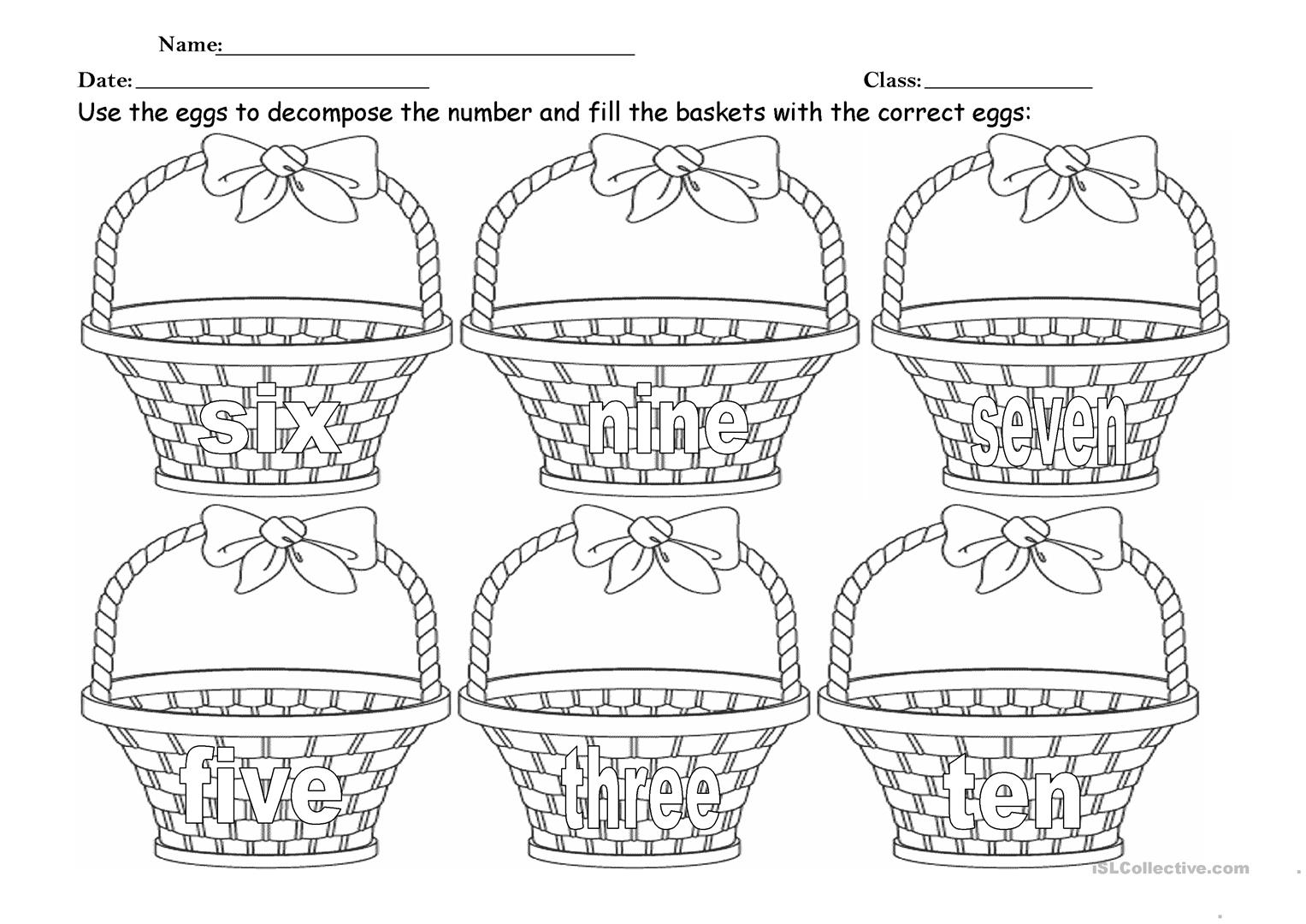 Easter Maths Worksheet