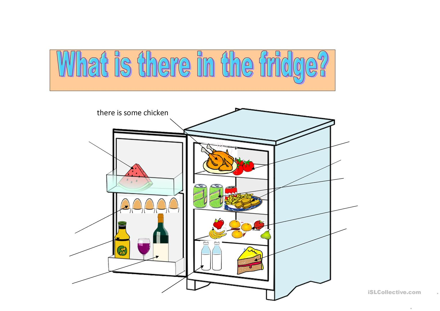 What Is There In The Fridge Worksheet