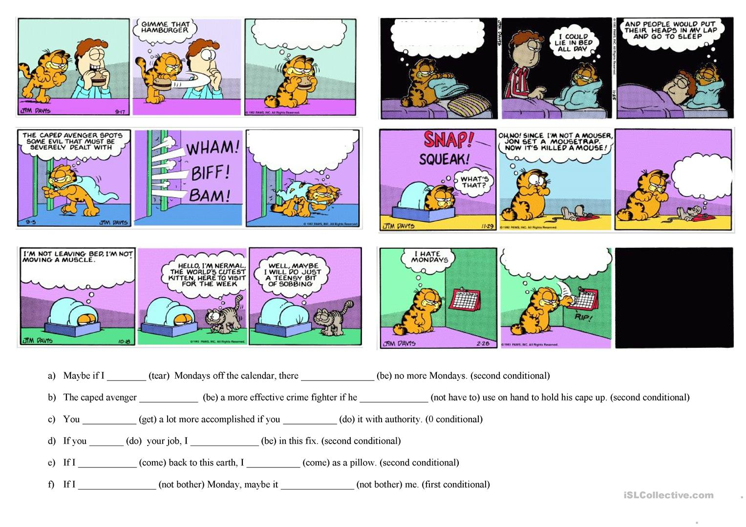 Garfield Worksheet